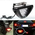1X Nueva Universal de La Motocicleta Del Coche F1 Estilo 12 LED Tercera luz de Freno de Parada de Seguridad de Cola Trasera Luz Roja de La Lámpara Envío Gratis