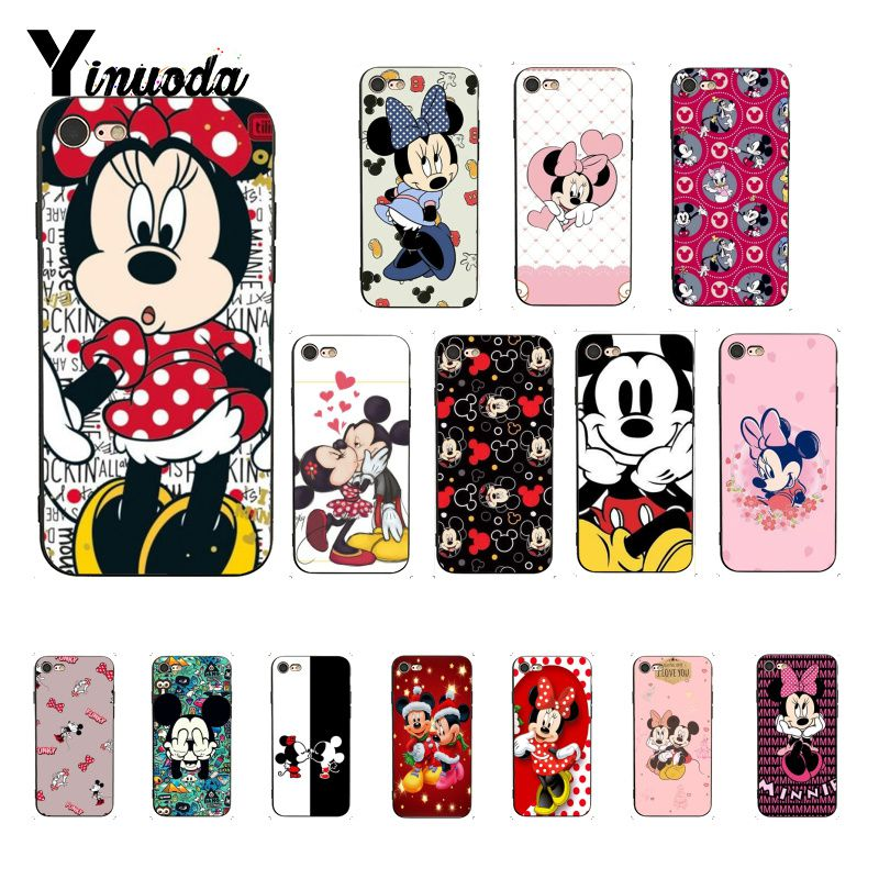 Yinuoda Kissing <font><b>Mouse</b></font> <font><b>Mickey</b></font> Minnie Customer High Quality Phone <font><b>Case</b></font> for <font><b>iPhone</b></font> <font><b>8</b></font> 7 6 6S Plus X XS MAX 5 5S SE XR 10 Cover image