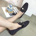 2016 New Arrival Women's Shoes Classic Black White Plaid Flat Shoes Chaussure Femme De Marque Shoes for Women