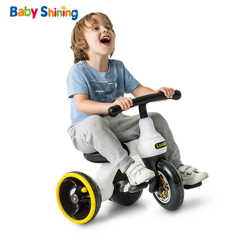 Bébé brillant enfants Tricycle Balance vélo enfants Scooter bébé marcheur haute qualité Concept conception de roue Original pour 1-6Y
