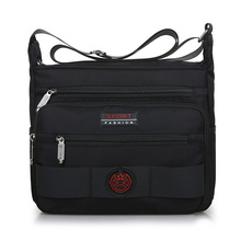 Man Shoulder Bag Preppy Style Leisure Or Travel Contracted joker Waterproof Oxford Crossbody Black Messenger