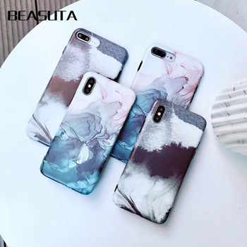 Phone Case ink Oil Painting Ink Starry Sky Pattern Cover for iphone X 7 6 6s plus 8plus Silicon Soft TPU Clear Capa coque kilif iphone 6 plus kılıf