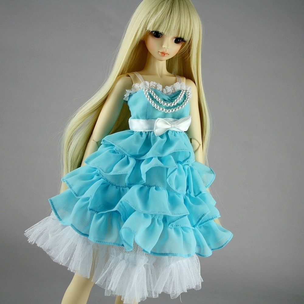 [wamami] 130# Skyblue Clothes Dress 1/4 MSD DOD AOD BJD Dollfie аксессуары для кукол wamami] 77 msd dod 1 4 bjd dollfie 2108673