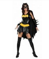 Batman fancy dress halloween costumes for women Sexy Halloween Batgirl Hero Black Dress Mask Gloves Fancy Costume Cosplay zy301