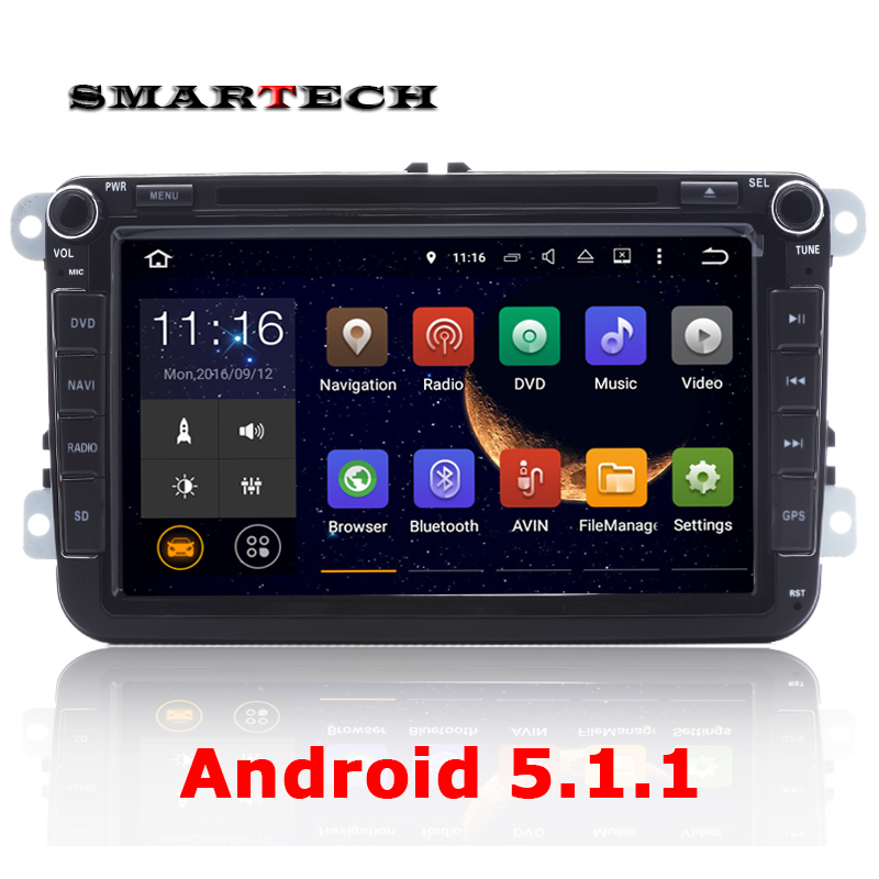 Car 2din Android 5 .1 Radio Stereo DVD GPS Navi Head Unit for Polo Passat Rabbit Amarok Scirocco Screen Head Unit Parking Sensor