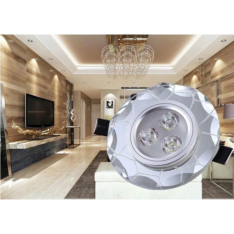crystal water cube 3W LED Spotlight Recessed lights living room bedroom  ceiling decoration light fixture double color 110V/220V