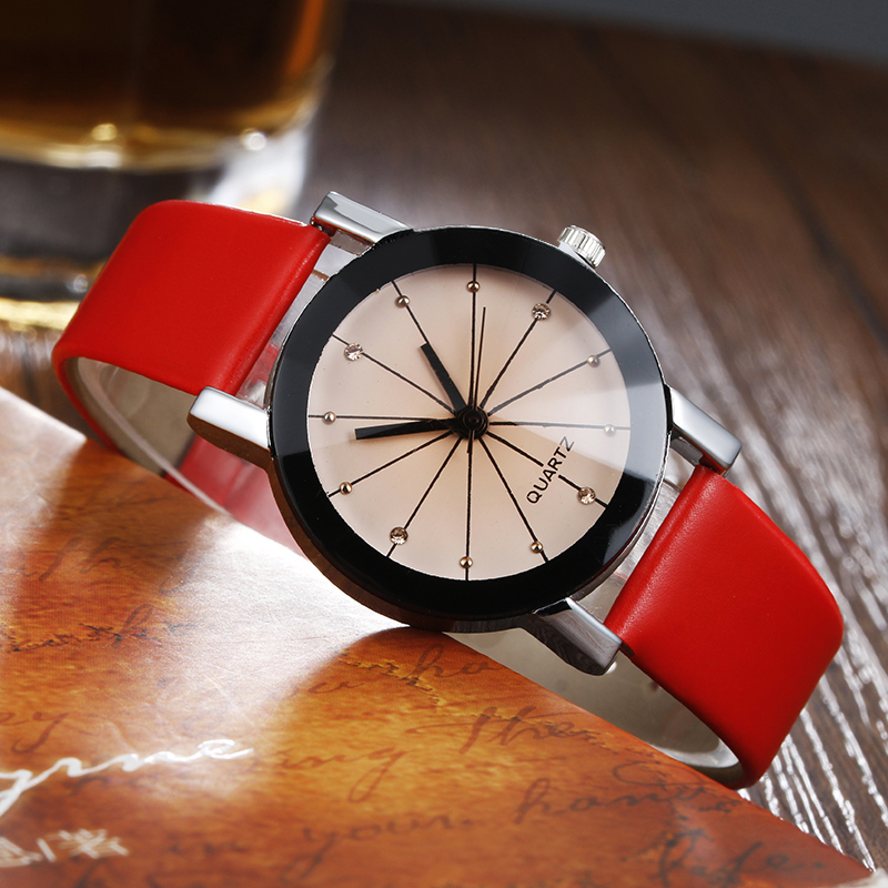 New Brand Luxury Classic 6 Color Lovers Couple Quartz Watch Women Men Fashion Casual Rhinestones Clock PU Leather Wrist Watches o t sea simple brand quartz watches women men fashion casual lovers quartz watch minimalism hand clock for couple reloj montres page 3 page href page 5