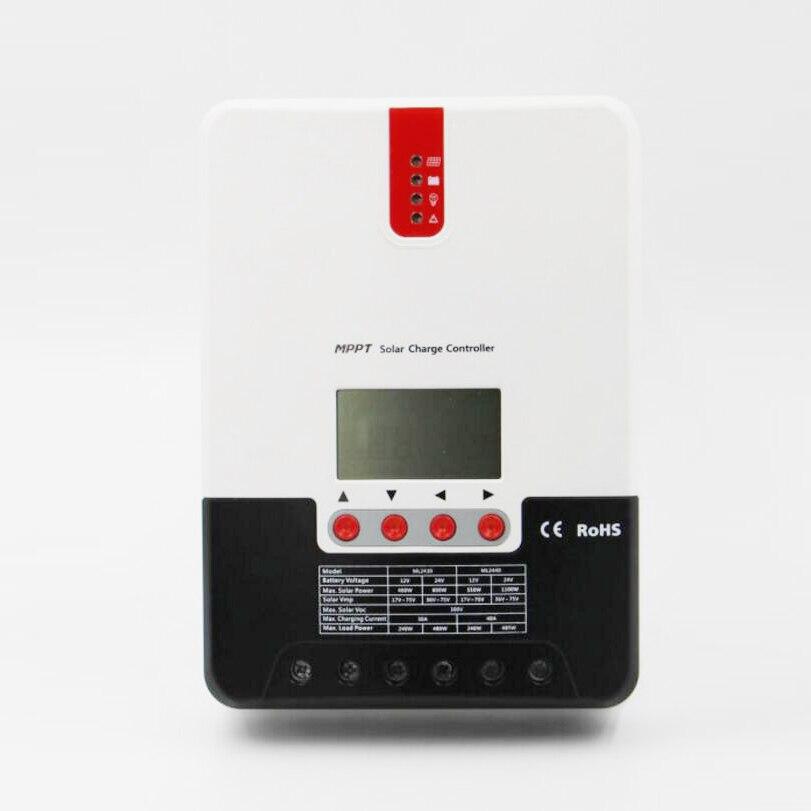 ML2430 30A 12V/24 100V MPPT solar controller with LCD display solar battery chargerML2430 30A 12V/24 100V MPPT solar controller with LCD display solar battery charger