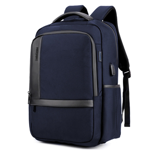 Image 4 - Sac à dos dordinateur portable 15.6 pouces étanche pour hommes, sacoche pour ordinateur portable, recharge externe USB, cartable décole