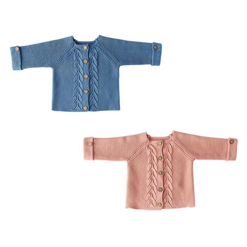 Kids Baby Autumn Baby Boys Girls Sweater Cotton Knitted Baby Girls Casual Cardigan Outerwear Coat Toddler Outfits Clothing