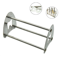 Dental Stainless Steel Stand Holder Orthodontic Cut Off Pliers Forceps Scissors Stand Placement Rack Lab Tool