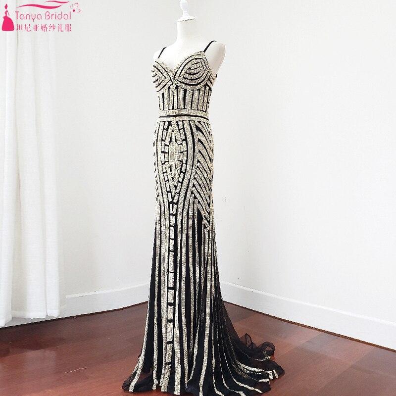 Scintillant scintillant robes de soirée sirène magnifiques robes de bal formelle tenue de soirée Festa ZE099