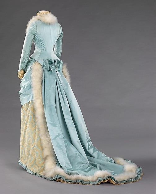 Victorienne Plumes 1885 Robe Luxe De Bustle Multi Tard PHnP4