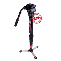 New JIEYANG JY0506 Aluminum Professional Monopod Video Tripod Stand With Fluid Head For Canon Nikon Sony