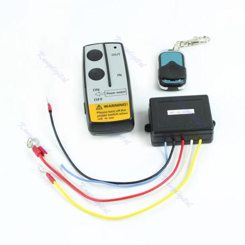 Wireless Remote Control Kit 24V Handset For Truck Jeep ATV SUV Winch Warn Ramsey