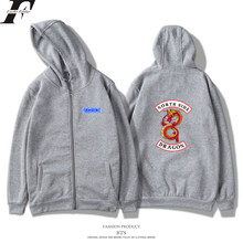 LUCKYFRIDAYF Riverdale Hoodies Men/Women Zipper Harajuku Fashion Casual Print Letter Tracksuit Sweatshirt Women Plus Size 4XL(China)
