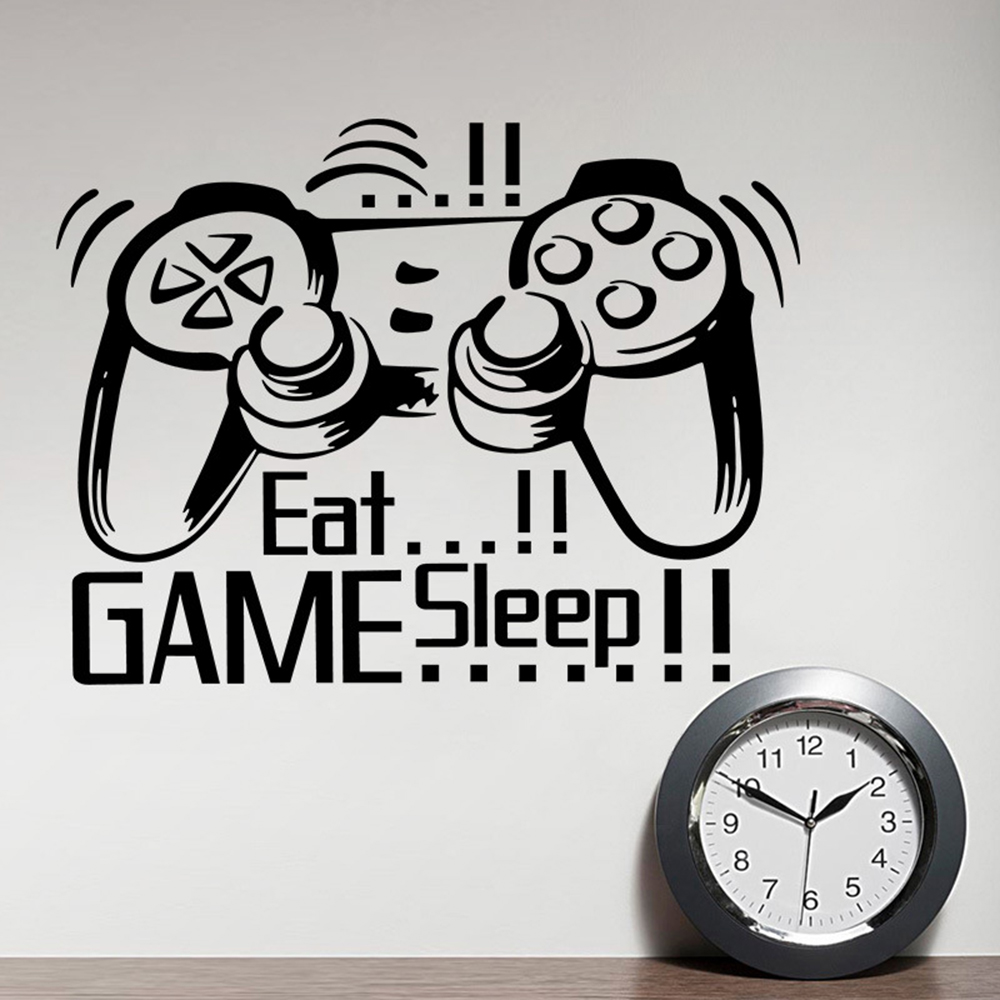 Host game console wall sticker female otaku indoorsman Bedroom character decoration sticker removable wall sticker