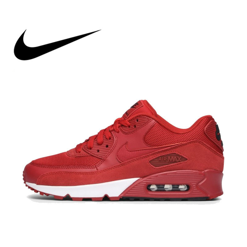 Original Authentic NIKE AIR MAX 90 Men's Running Shoes Classic Outdoor Sports Comfortable Breathable 2019 New Arrival 537384