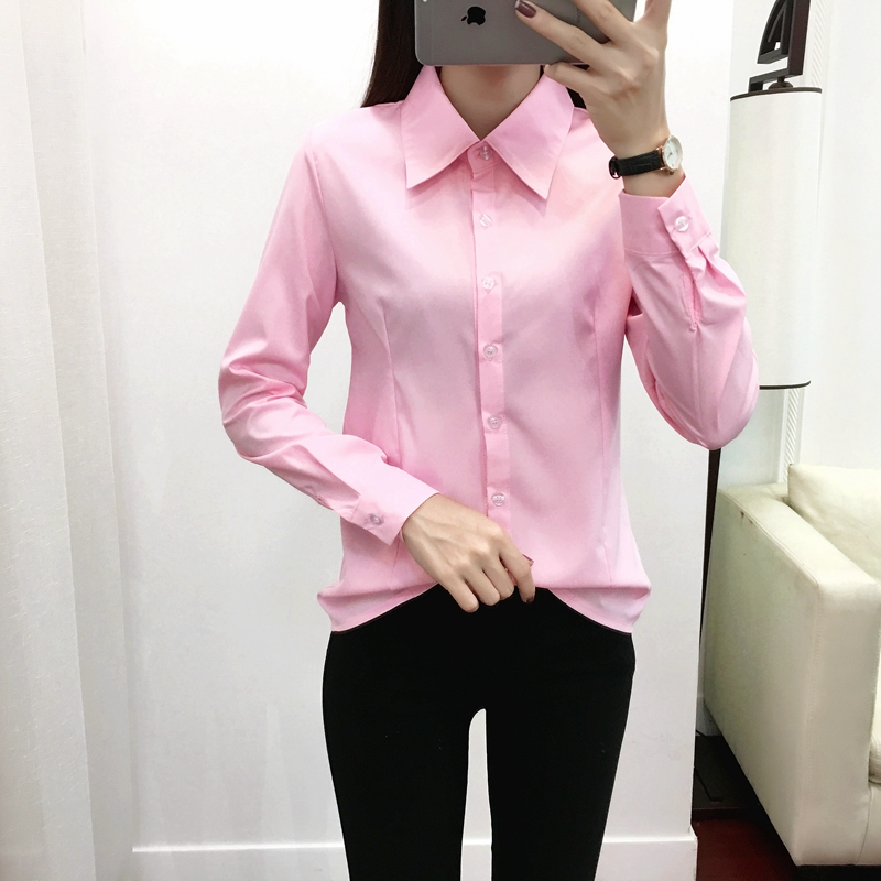 Women Shirts Woman Blouses Cotton Tops And Blouses Woman Long Sleeve Ladies Shirts Pink/White Blusas Plus Size 5XL Women Blouses