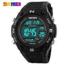 SKMEI hombres de la Marca de Cuarzo Reloj de Los Hombres Relojes Deportivos Militar LED Digital Impermeable Relogio masculino