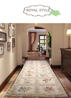 Pastoral Floral Pattern Chenille Material Europe Home Carpet rug Corridor Decorative Warm room