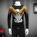Top Quality Men Sweater 2016 Winter Pull Homme Fashion Animal Print Pullover Mens O-Neck Slim Fit Casual Knitted Men Jumpers Hot