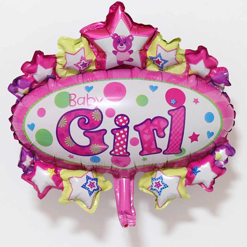 ミニベビー少年少女ハッピー Bitherday パーティーバルーン新生児 100 日装飾ピンク/ブルークラウン五角形クマ子供のおもちゃサプライヤー