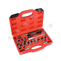 17 Pc Diesel Injector Cleaner Clean Carbon Remover Seat Cutter Cutting Tool Set