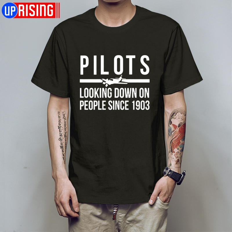 T Shirts Mens A Team Pilots Looking Down People Since 1903 Sleeve Harajuku Tops T Shirt Design Website HB30 image