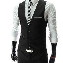 Новое прибытие платье жилеты для мужчин Slim Fit Мужская жилетка, костюм жилет Homme Повседневная Формальная деловая куртка без рукавов