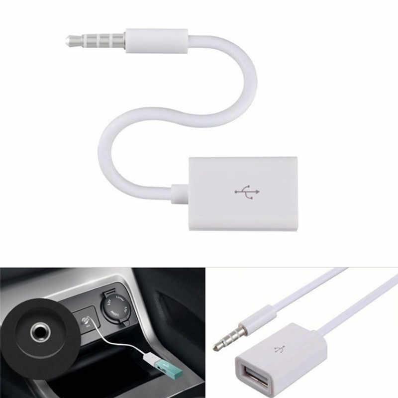 車 MP3 3.5 ミリメートル男性 Aux オーディオプラグジャック USB 2.0 メス変換ケーブルコード