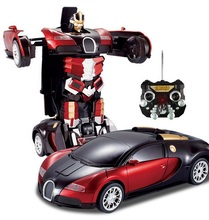 Kingtoy Kid Remote control Car Deformation RC car Toys Child Car Robot Flash Changeable For Baby Boy Gift