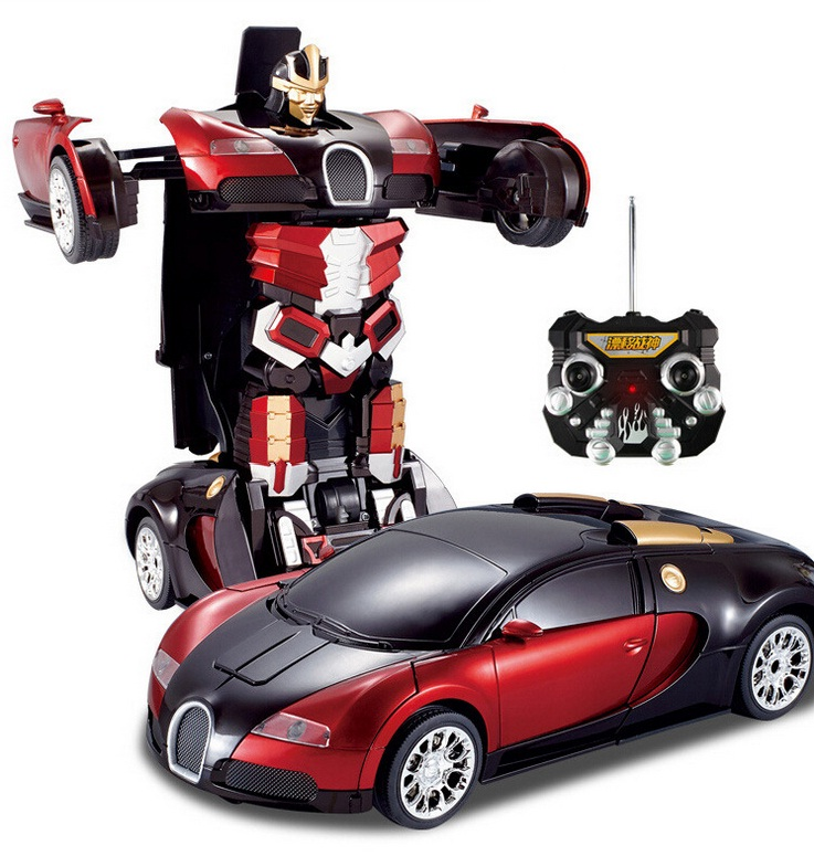 kingtoy kid remote control car deformation rc car toys child car robot flash changeable for baby