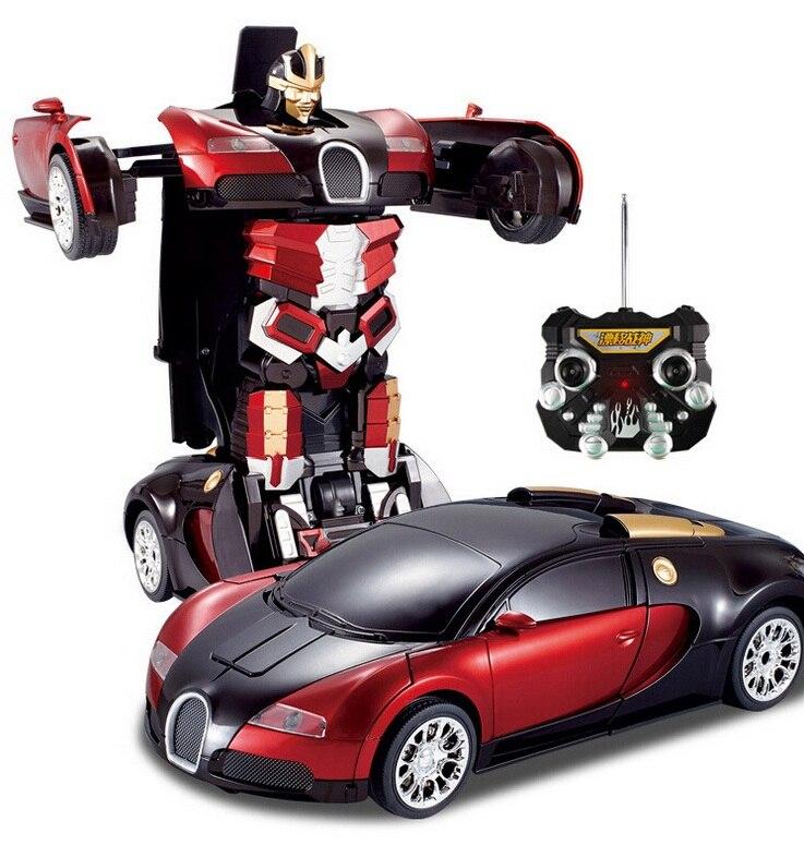 Kingtoy Kid télécommande voiture déformation RC voiture jouets enfant voiture Robot Flash modifiable pour bébé garçon cadeau
