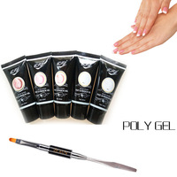 PVADCOL Acrylic French Kit 30ML Poly Gel Soak Off UV Builder Gel Nails Extension Tips With