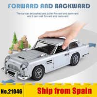 21046 Technic James Bond Aston Martin DB5 budynku zestaw cegły bloki 007 modele samochodów zabawki dla dzieci kompatybilny z 10262