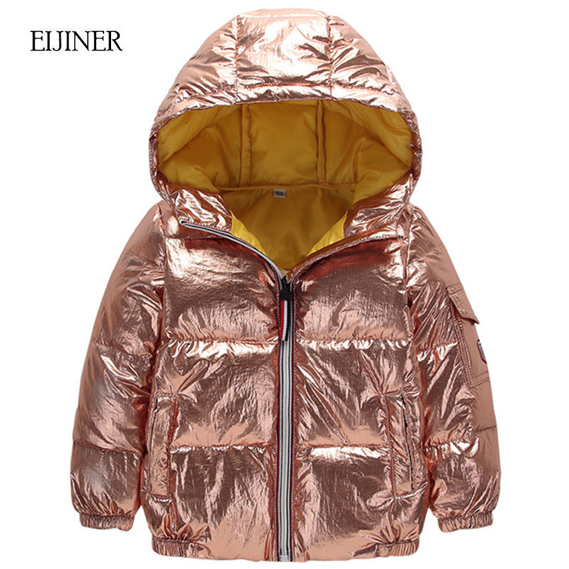 Girls Winter Coat 2018 Autumn Kids Down Jacket Costume Toddler Boys Parka Silver Pink Hooded Children Winter Coat 2 4 6 7 8 year children boys autumn winter coat clothing 2018 thin light long duck down jacket hooded girls winter jacket age 4 6 8 10 12 year