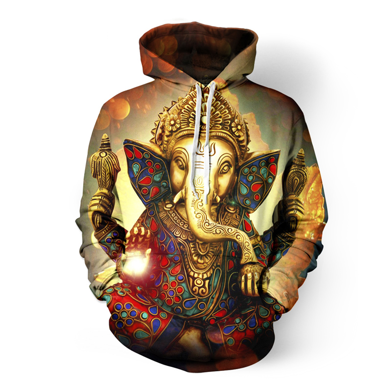 ONSEME Vintage Religion Buddha Elephant 3D Hoodies Men/Women Cool Rainbow Unicorn Skull Printed Hooded Sweatshirts Pullovers