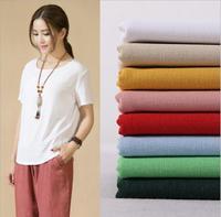 2017 New Arrival 20 Color Cotton Linen Fabric Plain Weave Fabrics For Sewing Textile Cloth 140cm