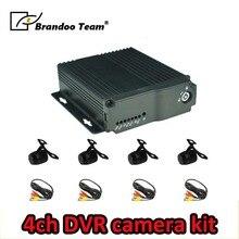 Lingua russa/Inglese; BD-323HD, 4 Canali SD CAR DVR con 4 mini impermeabile telecamere kit, utilizzato per il taxi, bus, guida della scuola bus