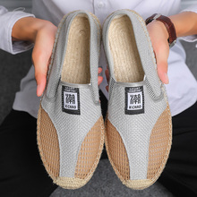 2019 Hot Sale Men Casual Shoes Summer  Canvas Shoes Men Canvas Espadrilles Soft Driving Shoes Slip On Mens Flats men flats shoes casual summer autumn espadrilles slip on canvas shoes men boat shoes breathable white black walking shoes 6h85