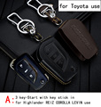 Genuine Leather CAR KEY CASE For TOYOTA HIGHLANDER REIZ COROLLA LEVIN CAMRY CROWN Use Automobile Special-purpose CAR KEY HOLDER