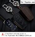 Genuine Leather CAR KEY CASE For TOYOTA HIGHLANDER REIZ COROLLA LEVIN CAMRY CROWN Use Automobile Special-purpose CAR KEY HOLDER