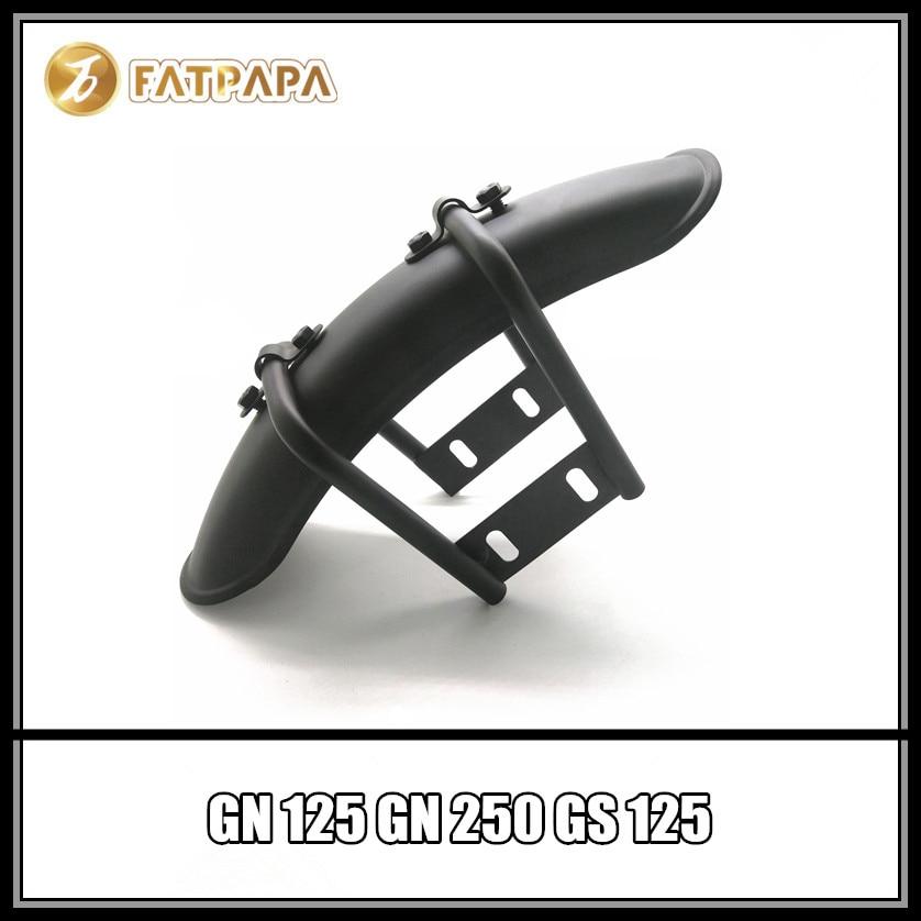 Livraison gratuite accessoires moto modifié garde-boue rétro adapté pour Suzuki GN125 GN250 GS125 garde-boue arrière
