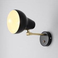 Design Living Room Wall Lamp Modern Creative Replica Lamp White/black Wall Lamps Led Bedroom Wall Light(China)