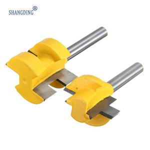 "Image 1 - 2Pcs/Set 1/4 Inch Shank Tongue Groove Router Bit +1/4"" Shank Groove router bit Wood Woodworking Cutting Tools"