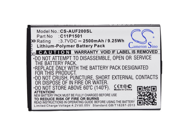 Cameron Sino High Quality Battery  C11P1501 for Asus Z00D, Z00UD, Z011D, ZD551KL, ZE500CL, ZE551KL, ZE600KL, ZE601KL, ZenFone 2