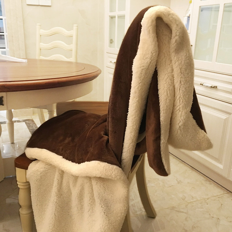 US $13 79 39% OFF|Winter Wool Blanket Ferret Cashmere Blanket Warm Blankets  Fleece Plaid Super Warm Soft Throw On Sofa Bed Cover Rectangle Blanket-in