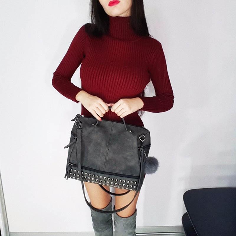 DALFR Women Messenger Bags Pu Leather Famous Brands Shoulder Bag Luxury Women Top handle Bag Crossbody