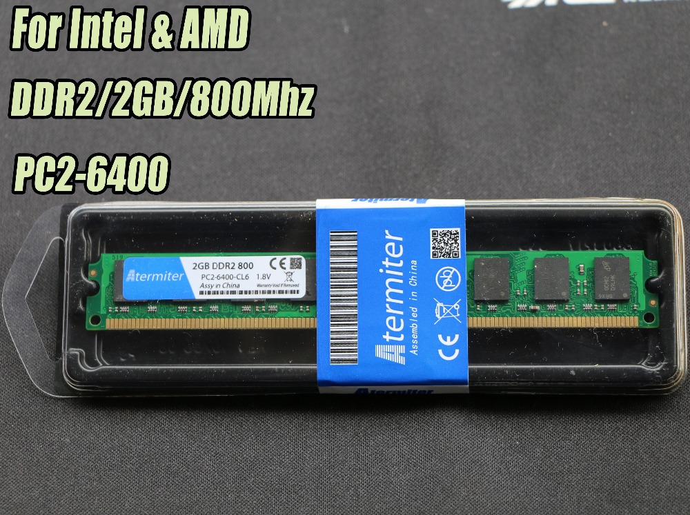Nuevo 2 GB DDR2 PC2-6400 800 MHz para PC de escritorio DIMM memoria RAM 240 pines (intel amd) Sistema totalmente compatible alta Compatible